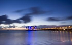 Картинка море, мост, England, Weston-Super-Mare