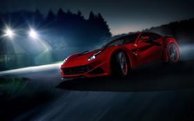 Обои berlinetta, автообои, tuning, car, Novitec Rosso, Ferrari F12, феррари