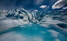 Обои природа, вода, лет, ледник