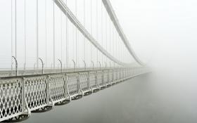 Обои Великобритания, fog, Бристоль, Clifton Suspension Bridge
