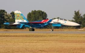 Обои истребитель, аэродром, многоцелевой, Су-27