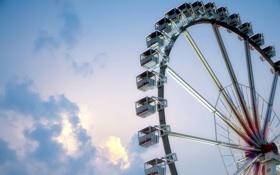 Обои небо, колесо, атракцион