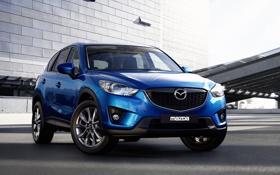 Обои Синий, Машина, Мазда, Mazda, Car, Автомобиль, Cars