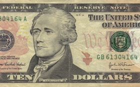 Обои note, america, states, money, dollar, Dollars, Hamilton
