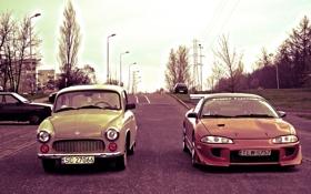 Обои Mitsubishi, драг, cars, auto, старое авто