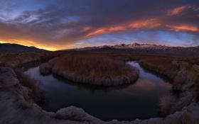 Обои ночь, природа, река