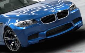 Обои car, синий, фары, BMW, Forza Motorsport 4