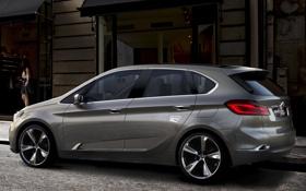 Картинка Concept, девушка, фон, BMW, БМВ, концепт, вид сзади