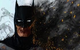Картинка batman, fire, art