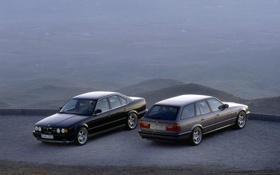 Обои BMW, E34, Touring