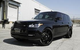Обои черный, ленд ровер, Sport, спорт, Black, Range Rover, Land Rover