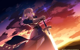 Обои небо, saber, fate-stay night