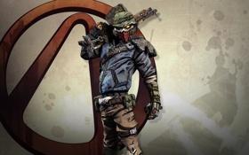 Обои borderlands 2, 2K Games, bandit, маска, бандит, RPG, FPS