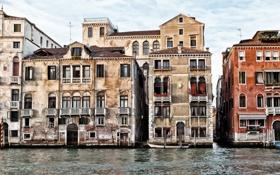 Обои вода, дом, Город, Венеция