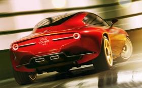 Картинка Concept, концепт, alfa romeo, Touring, Disco Volante, SuperLeggera