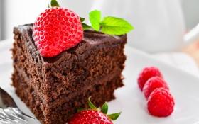 Обои торт, пирожное, cake, десерт, выпечка, сладкое, шоколадный