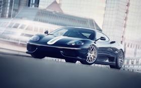 Картинка здания, Ferrari, феррари, 360, blue, front