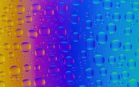 Обои стекло, свет, пузырьки, цвет, радуга