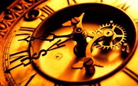 Обои макро, стрелки, циферблат, старинные часы