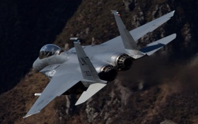 Обои истребитель, полет, Strike Eagle, F-15E