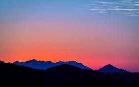Обои пейзаж, горы, закат, topanga canyon, california