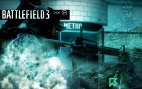 Картинка метро, солдат, battlefield