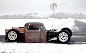 Обои volkswagen, фольксваген, snow, ratroad, рэтрод