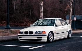 Обои бмв, BMW, белая, white, E46, 3 серия, 325