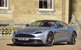 Обои Aston Martin, Колеса, Серебро, Капот, Корпус, Автомобиль, Vanquish