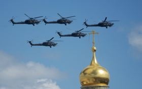 Обои полет, ударные, вертолёты, Mi-28