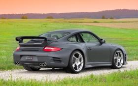 Обои небо, поля, 997, Porsche, Carrera, Mansory