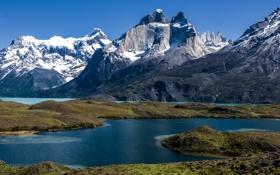 Обои природа, горы, озёра, Чили