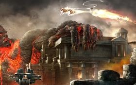 Обои wide, кратос, god of war, титан