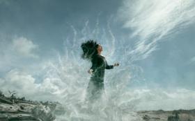 Обои девушка, ветер, стихия, Dissolve, Krystal Christensen