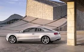 Обои Audi, Ауди, Машина, Серый, День, Автомобиль, Купэ