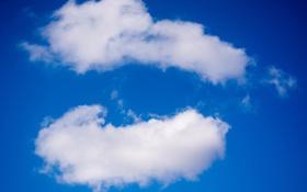 Картинка небо, облака, белые, синее