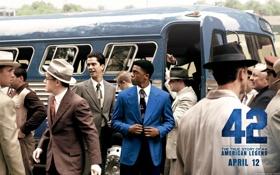 Обои автобус, Чэдвик боузман, джеки робинсон, chadwick boseman