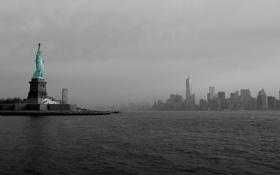 Картинка Manhattan, New York City, statue, Liberty