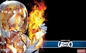 Обои Marvel, комикс, comics, Emma Frost, Hawkeye, Соколиный глаз, Avengers vs X-Men