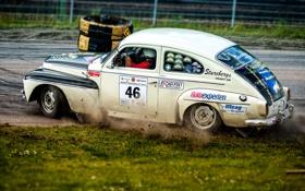 Обои гонка, 1964 Volvo Pv544, спорт