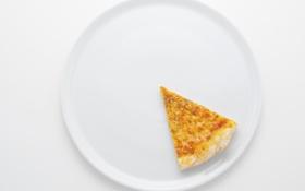 Картинка тарелка, пицца, ломтик