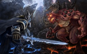 Обои diablo, wow, art, arthas, moba, heroes of the storm