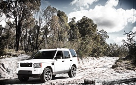 Картинка дорога, природа, грязь, Джип, Land Rover, cars, auto