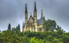 Картинка город, фото, Германия, собор, храм, монастырь, Apollinaris Kirche Remagen
