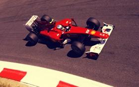 Обои трасса, формула 1, Ferrari, пилот, феррари, formula 1, гонщик