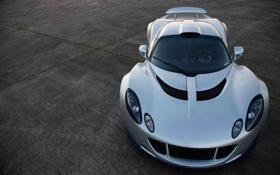 Обои серебристый, Venom GT, Hennessey, supercar, передок, front