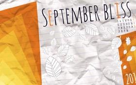 Картинка осень, листья, линии, лист, месяц, цифры, 2012