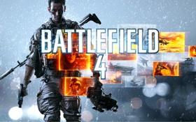 Обои пистолет, Battlefield 4, Hanna, солдат, DICE, Electronic Arts, вертолёт