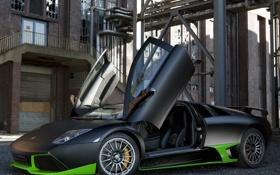 Картинка Lamborghini, матовый, ламборджини, Murcielago, кузовное ателье, тюнинг ателье, Ламбо-двери