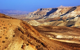 Картинка песок, пейзаж, пустыня, небо, израиль, горы